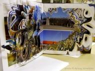 Ísland ögrum skorið – af Ingu. Recycled book – artwork by Inga.
