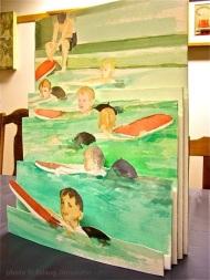 Sundnámsmenn - Swimmers - by Svanborg, book art in process