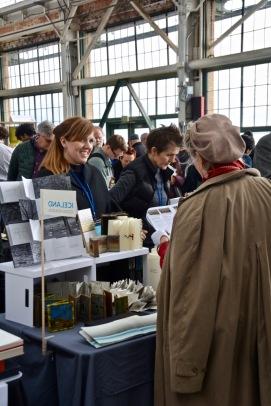 Kristín Guðbrandsdóttir and Anna Snædís at work